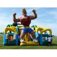 inflatable obstacle course with cover roof , giant inflatable playground , fun city park