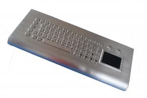 China Easy clean long stroke kiosk industrial wall-mounted keyboard with touchpad , 68 key on sale