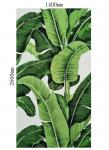 Green Leaf Wall Mural / Arts And Crafts Tile Murals Low Temperature Resistance