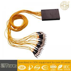 China Customized Single Mode Fiber Splitter , ABS Box Plc Splitter Module Dustproof on sale