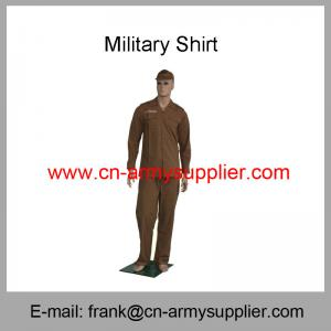 China Wholesale Cheap China Military Brown Wool T/R Army Police Officer Shirt on sale