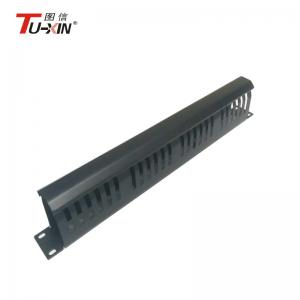 China 19 Inch Rack Accessories1U & 24 Port Rack Mount Ethernet Cable Management on sale