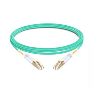 China 1m (3ft) Duplex OM4 Multimode LC UPC to LC UPC PVC (OFNR) Fiber Optic Cable on sale