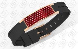 China braceletes magnéticos joia da saúde da fibra do carbono do ouro de 18K Rosa, braceletes magnéticos das senhoras on sale