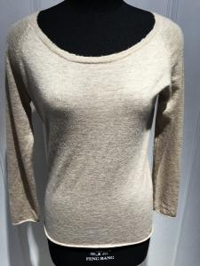 China Custom Ladies Raw Edge Sweater , Soft Pure Cashmere Women Warm Sweaters Pullover on sale