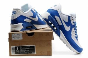 China Air Max 90 Hyperfuse white and blue on sale