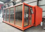 20 HC Orange Modern Style Expandable Shipping Container House