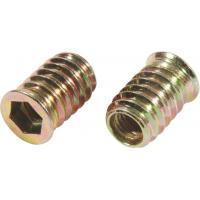 Carbon Steel Flat Head M8 Insert Nut , 5mm Threaded Insert Fine Thread Iron Material