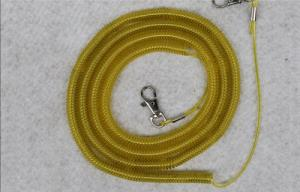 China safety spiral lanyard cable coil rope boat fish tackle rod protector wire elastic fishing on sale