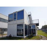 Steel Door Prefab Container House With Double Glazing Glass Wall And Window