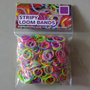 China DIY Loom bands stripy loom bands on sale