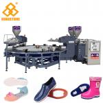 Rotary Type 1/2 color PVC Jelly slippers sandals Injection Molding Machinewith servo system