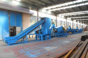China Automatic PE PP Film Washing Line Recycling Machinery With ABB Inverter on sale