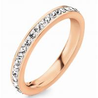 Crystal Diamond Channel Setting Ring