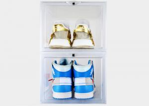 China Sneaker Clear Acrylic Display Case Moisture Proof Plastic Material Custom Color on sale