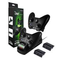 High Quality Charging Dock Dual Charger Station with 2 x1200mAh Rechargeable Batteries and USB Cable for Xbox One