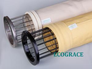 China Baghouse PPS Filter Bags , Durable Smoke Power Plant Dust Filtration on sale