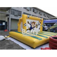 Outdoor Inflatable Sports Games , Backyard Inflatable Soccer Goal Game