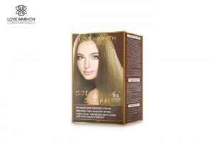 China 4 / 33 Shades Permanent Hair Color Cream , Family 100 % White Hair Dye Kit on sale
