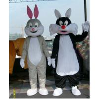 China bunny rabbits mascot cartoon party costume  on sale