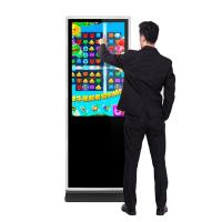 43 49 55 65 inch floor stand alone hd lcd infrared touch interactive digital signages computer Intel i3 IR touch screen