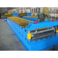 Galvanized Metal Roof Panel Roll Forming Machine , Glazed Tile Roll Forming Machine