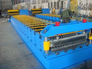 China Galvanized Metal Roof Panel Roll Forming Machine , Glazed Tile Roll Forming Machine  on sale