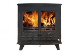 China Graphite Color Free Standing Wood Burning Stove , Cast Iron Wood Burning Heater on sale
