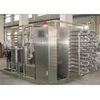 1000 LPH Milk Fruit Juice Pasteurization Machine SS 304 / SS 316 Material