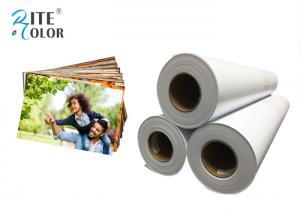 China Smooth 190gsm Resin Coated Photo Paper , Large Format Silky Photo Paper For Inkjet Printer on sale