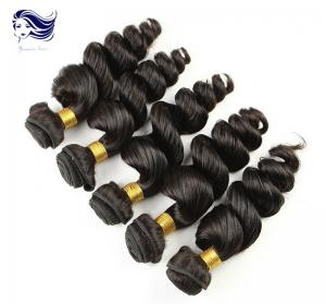 China Brazilian Grade 7A Virgin Hair Weave Tangle Free with Loose Wave on sale