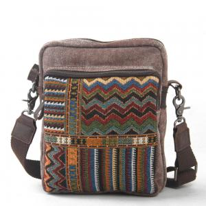 China Fashion Retro Men Messenger Bags Canvas National Travel Sports Crossbody Shoulder Bags on sale