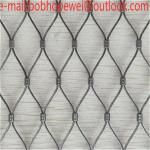 wire rope net/stainless steel cable net/rope fence netting/rope mesh netting/steel cable netting/wire rope end fitting