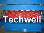 PLC は艶をかけられたタイル、屋根瓦、金属の屋根瓦のための機械を形作るステップ タイル ロールを制御します