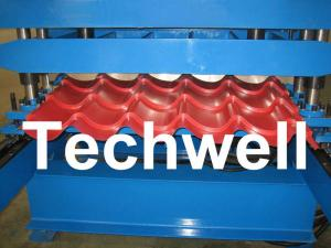 China PLC Control Step Tile Roll Forming Machine for Glazed Tile , Roof Tile , Metal Roof Tile on sale