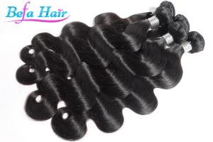 China Body Wave Unprocessed Peruvian Human Hair Extensions 14 Inch Virgin Natural Hair on sale