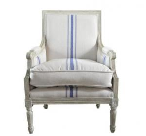 China High Back Antique Wooden Leisure Chair With High Density Sponge , LS-0008 on sale
