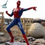 Customized all kinds of sizefiberglass spiderman statue for christmas decoration