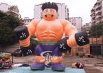 5m high cutom shape advertising inflatable fitness muscle man for GYM promotion