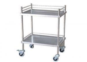 China Durable Two Shelves Stainless Steel Medical Trolley Surgical Instrument Trolley (ALS-SS02) on sale