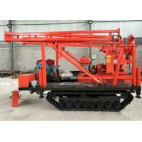 China Mobile Hydraulic Crawler Drilling Rig , Track Mounted Drill Rig Easy Operation on sale