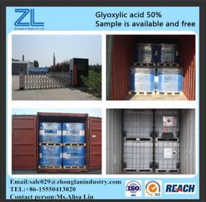 China Pharmaceutical Grade glyoxylic acid 50% on sale