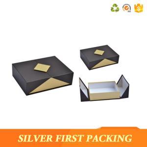 China Silver First  Matt lamination paper cardboard top lid box flip custom logo box magnetic closure on sale