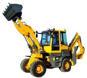 China Exported model  4 wheel drive  2ton load 1m3 front shovel 0.2m3 excavator bucket backhoe loader on sale