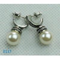2012 Fashion Jewelry, 18g Pearl Zirconia Stud Earring