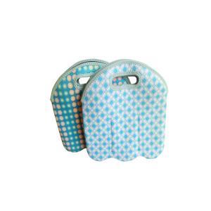 China Factory price hot sale custom logo foldable round shape neoprene canned bottle cooler bag on sale
