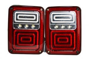 China DC 12V Jeep Wrangler Unlimited Lights Brake Version Tail Light USA Plug on sale