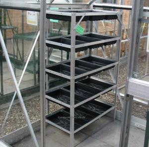 China new style hot sale greenhouse /single sliding door/close to a wall on sale