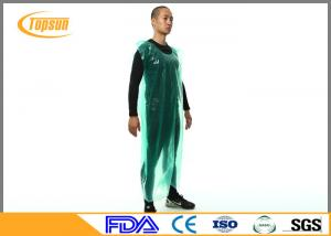 China Breathable Disposable Plastic Aprons PE Smock / Overall Full Body Protection on sale