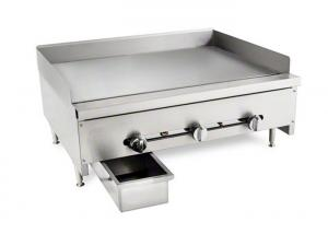 China Commercial Stainless Steel Gas Griddle Flat Surface Gas Range Griddle For Indoor on sale